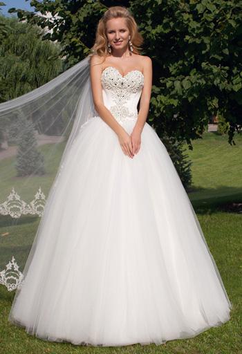 Свадебные платья Оксана Муха | Картинка платья среднее Свадебный салон Валенсия